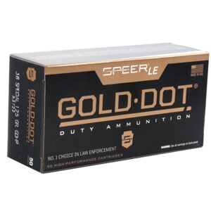 Speer 38 Special 125 Gr Gold Dot Duty Ammunition GDHP