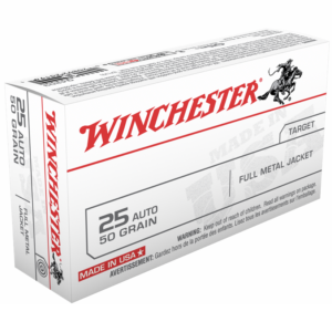 Winchester 25 Acp 50 Grain Full Metal Jacket (50)