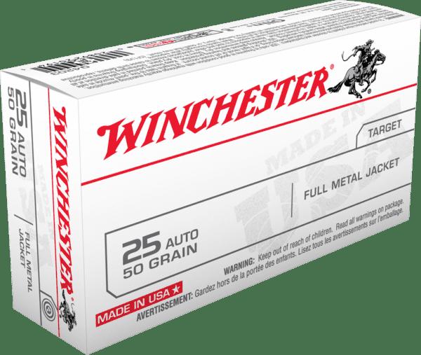 Winchester 25 Acp 50 Grain Full Metal Jacket (50)