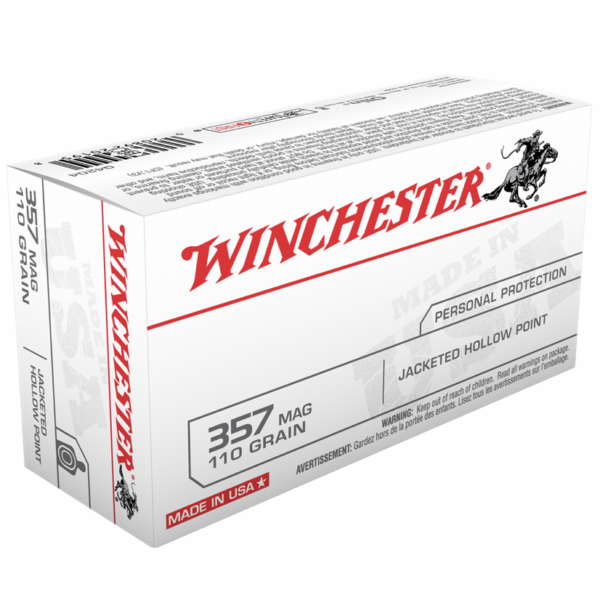 Winchester 357 Magnum 110 Gr JHP (50)