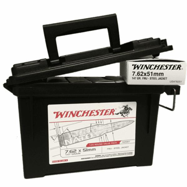 Winchester 7.62x51 NATO 147 Gr FMJ (120)