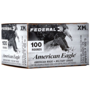 Federal 5.56 55 Gr. FMJ XM193 American Eagle 100 Rounds