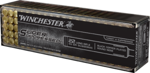 Winchester 22 LR 45 Gr Black Copper Round Nose Super Suppressed (100)