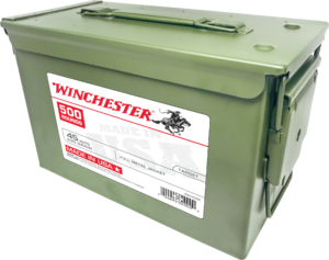 Winchester 45 Auto 230 Gr FMJ Ammo Can (500)