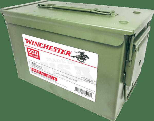 Winchester 45 Auto 230 Gr FMJ Ammo Can (500)