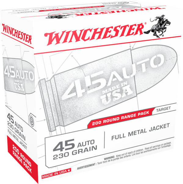 Winchester 45 Auto 230 Gr FMJ Value Pack (200)