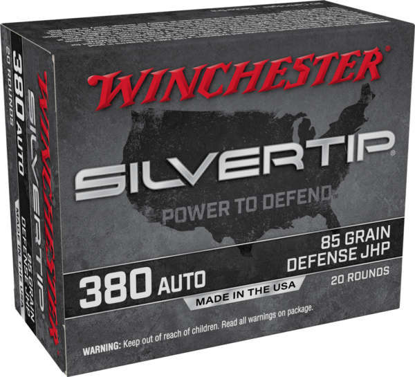 Winchester 380 Auto 85 Grain JHP (20) Silvertip