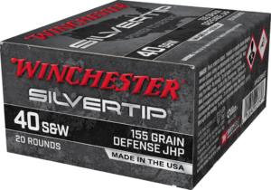Winchester 40 S&W 155 Grain JHP (20) Silvertip