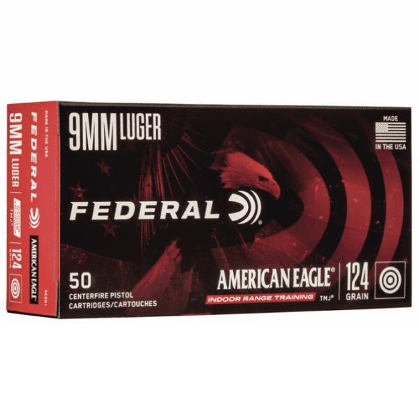 Federal 9MM 124 Gr TMJ American Eagle (50)