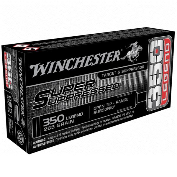 "Winchester 350 Legend 265 Grain Open Tip - Range Subsonic (20) ""Super Suppressed"""