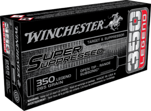 "Winchester 350 Legend 265 Grain Open Tip - Range Subsonic (20) ""Super Suppressed"""