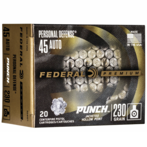 "Federal 45 Auto 230 Gr JHP (20) Personal Defense ""Punch"""