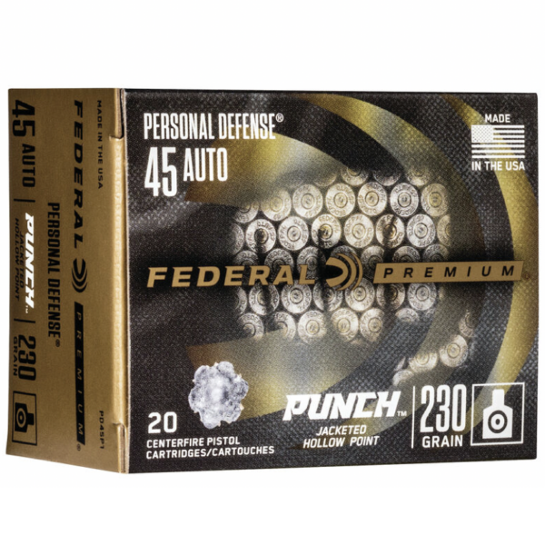 """Federal 45 Auto 230 Gr JHP (20) Personal Defense """"Punch"""""""