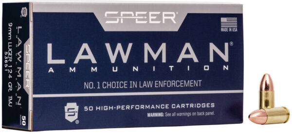 Speer 9MM 124 Gr TMJ Lawclean (50)