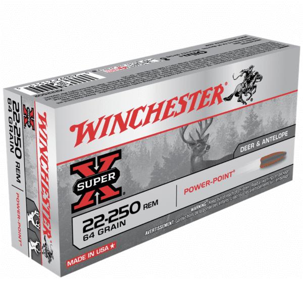 Winchester 22-250 Rem 64 Grain Power Point (20)