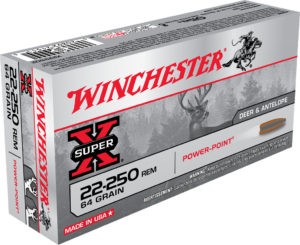 Winchester 22-250 Rem 64 Grain Power Point (20)