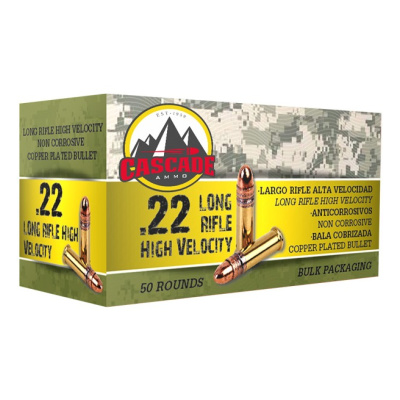 Cascade 22 LR Ammo 40 Gr Lead Round Nose Copper Plated HV (50) 1250 FPS