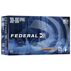 Federal 30-06 Springfield 125 Gr Soft Point Power Shok (20)