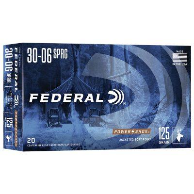 Federal 30-06 Springfield 125 Gr Soft Point Power Shok (20)