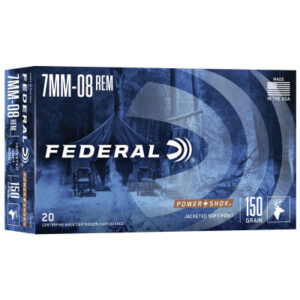 Federal 7mm-08 Remington 150 Gr Soft Point Power Shok (20)