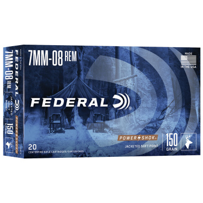 Federal 7mm-08 Remington 150 Gr Soft Point Power Shok (20)