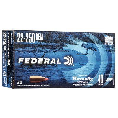 Federal 22-250 Rem 40 Grain Hornady V-Max (20)