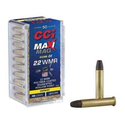 CCI 22 WMR 46 GR Polymer Coated Segmented Lead Hollow Point (50) MaxiMag