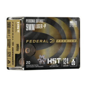 Federal Premium 9mm +P 124 Gr HP HST (20) Personal Defense