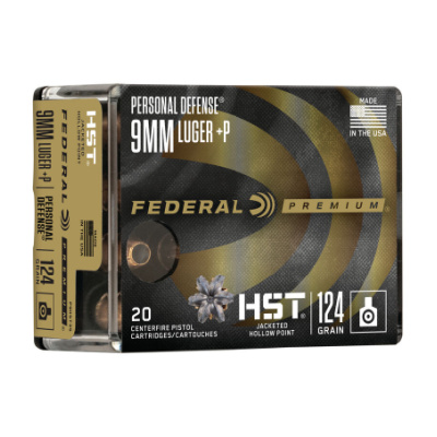 Federal Premium 9mm +P 124 Gr HP HST (20) Personal Defense
