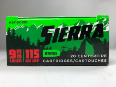 Sierra 9mm 115 Gr JHP (20) Outdoor Master