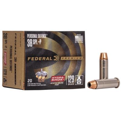 Federal 38 Special+P 129 Gr Hydra-Shok JHP (20)