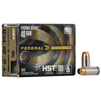 Federal 40 S&W 180 Gr Premium HST JHP (20)