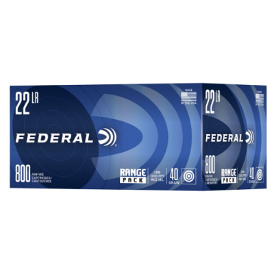 Federal 22 LR 40 GR Lead Round Nose High Velocity Range Pack (800)