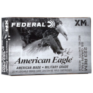 Federal 223 Remington 55 Grain American Eagle FMJBT Ammunition 20 Rounds