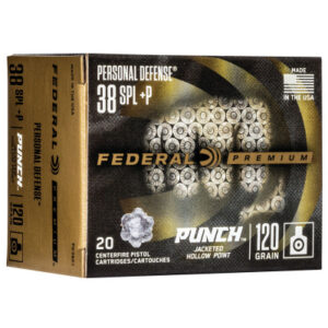 """Federal 38 Special 110 Gr Premium JHP """"Punch"""" (20)"""
