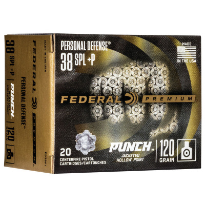 "Federal 38 Special 110 Gr Premium JHP ""Punch"" (20)"