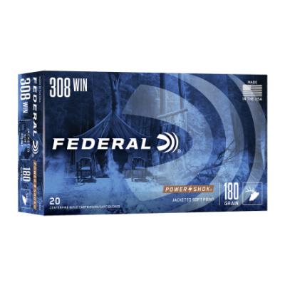 Federal 308 Win 180 Gr Power-Shok SP (20)