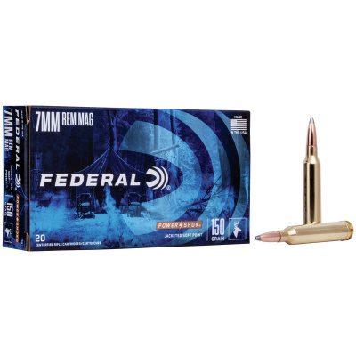 Federal 7mm Rem Mag 150 Gr Soft Point Power Shok (20)
