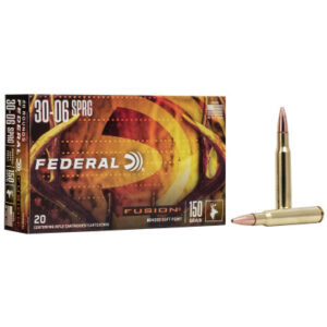 Federal 30-06 Springfield 150 Gr Fusion Soft Point (20)