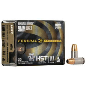 Federal 9mm 147 Gr Premium Personal Defense HST (20)
