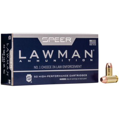 Speer 40 S&W 165 Gr Total Metal Jacket Lawman (50)