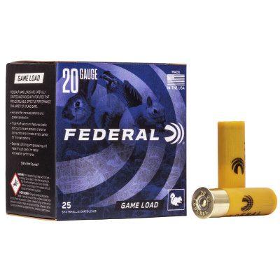 """Federal 20 Gauge 2 3/4"""" 7/8 oz 7.5 Shot Upland Game Load (25) 1210 FPS"""