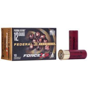 """Federal 12 Ga Premium Personal Defense 2.75"""" Buckshot 9 Pellet Segmenting Buckshot (10) Force X2"""