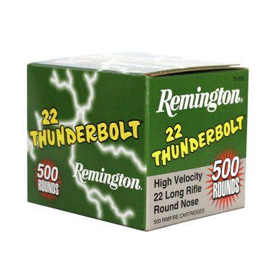 Remington 22 LR 40 Gr Lead Round Nose (500) Thunderbolt