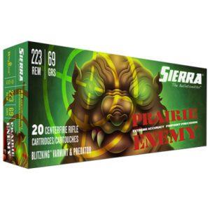 Sierra 223 Rem 69 Grain BlitzKing Ammunition (20 Rounds)
