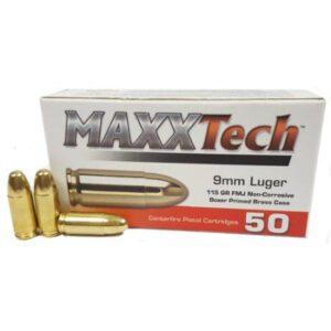 MaxxTech 9MM 115 Gr FMJ (50)