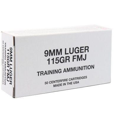 CCI Blazer Brass 9MM 115 Gr FMJ (50) White Box
