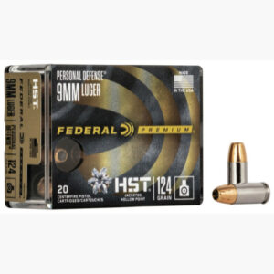 Federal 9mm 124 Gr Premium Personal Defense HST (20)