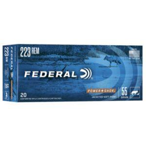 Federal 223 Rem 55 Gr Power-Shok JSP (20)