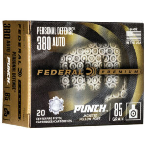 """Federal 380 ACP 85 Gr Personal Defense """"Punch"""" (20)"""